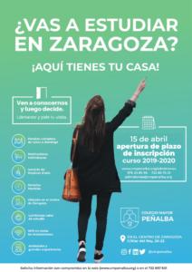 abierto plazo inscripcion colegio mayor Penalba 2019